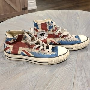 Converse British flag sneakers